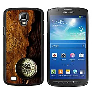 Be-Star Único Patrón Plástico Duro Fundas Cover Cubre Hard Case Cover Para Samsung i9295 Galaxy S4 Active / i537 (NOT S4) ( Compass carte ancienne Brown Voyage Histoire )