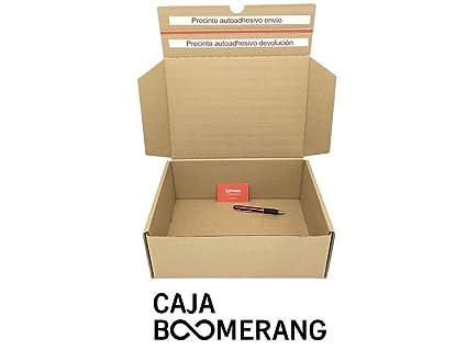 Caja de Cartón para Envíos (Caja Doble Envío) de 34 x 19 x 13 cm (Paquete de 10 Cajas) - Color Marrón. Permite Hacer Dos Envíos en Uno. Mudanzas. ...