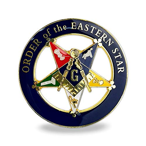 Masonic Order of Eastern Star (OES) Car Decal Square Cut-Out Auto Emblem