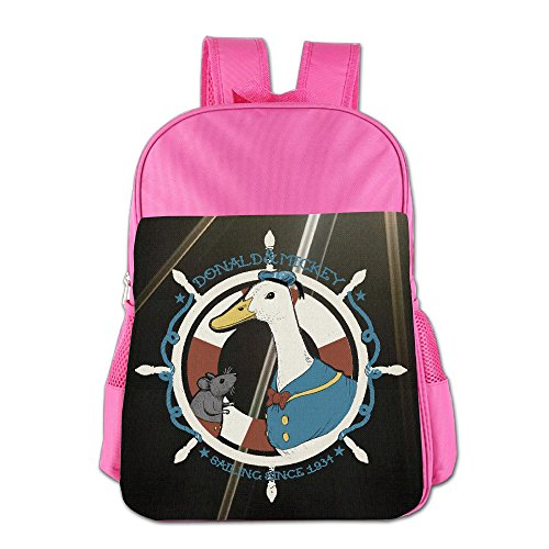 Donald And Mickey Kids School Backpack Bag Pink