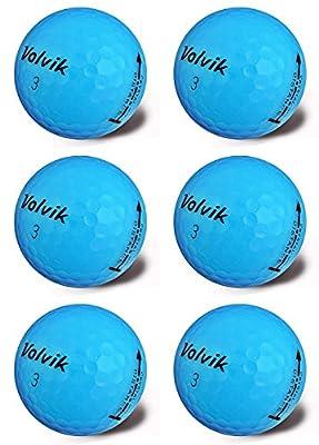 Volvik Crystal Premium Half Dozen Golf Balls Blue