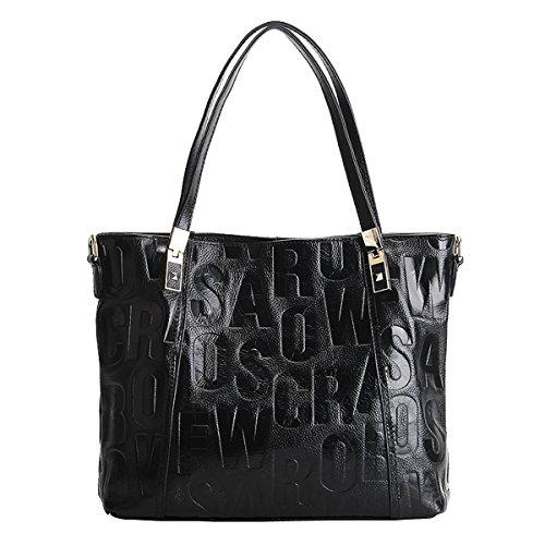 portés bandoulière Noir Sac portés femme en main cuir à Sac Girl épaule Sac fashion Sac main E 1832 LF H4wPq