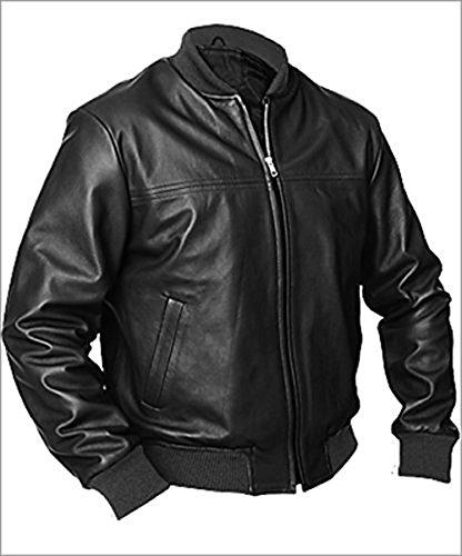 Leather Jacket Bomber Brando Liberty eGenius Black Style Men's vwS4YPqU