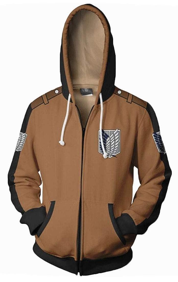 Gocgt Mens Sports Zip up Print Hoodie Sweatshirts Coat Outwear