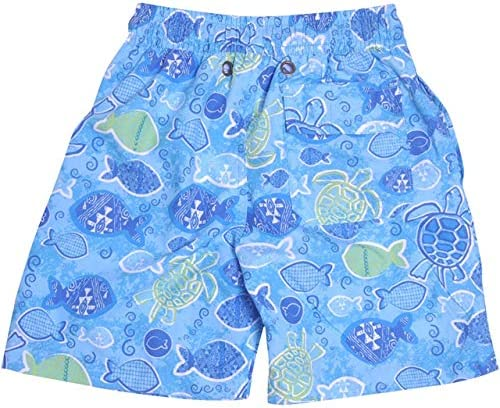 Little Boys' UPF 50 Swim Trunk With Mesh Liner Tropical Turtle 5 [並行輸入品]