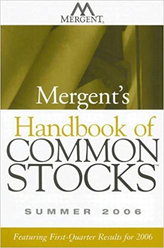 Mergent's Handbook of Common Stocks: Summer 2006