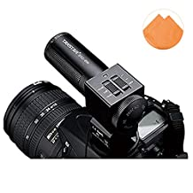 First2savvv SGC-698E07 condenser shotgun stereo microphone mic with tripod fits any DV& DSLR camera with microphone hole and path - FUJIFILM X-E2 X-Pro1 X-E1 X100S X100 X20 X10 X-A1 olympus SP-820UZ SP-720UZ SZ-30MR SZ-10 olympus E-450 E-PL5 E-PM2 E-PM1 XZ-2 E-P5 panasonic DMC-GF5 DMC-GX1 DMC-GF3 DMC-GF6 DMC-GX7 CASIO EXILIM EX-H50 LEICA X2 D-LUX 6 D-LUX 5 X2 EDITION PAUL SMITH with orange Cleaning cloth