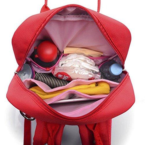 de main rouge noir mode à Sac grande multifonctionnel de Bleu de sac mode de de de capacité broderie à de bleu dos sac WENMW de nouveau toile maman mère aSWq4nnvx