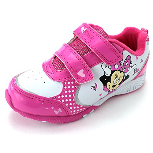 Minnie Mouse Girls Pink Lighted Sneakers Shoes (11 M US Little Kid)