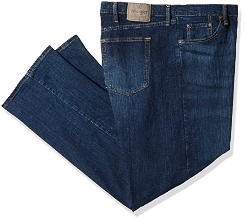 Wrangler Authentics Men's Big and Tall Classic Relaxed Fit Jean, Dark Flex, 46x32