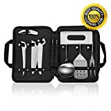 Forest Master Camping Cooking Utensils Organizer Travel Set Portable - Detachable Handle Camp Kitchen Utensils Kit with Waterproof Case,Picnic Backpack BBQ Hiking Outdoor Cookware Utensils