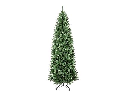 Albero Di Natale Slim 210.Albero Di Natale Super Folto Slim Altezza 210 Cm Multiramo Base A