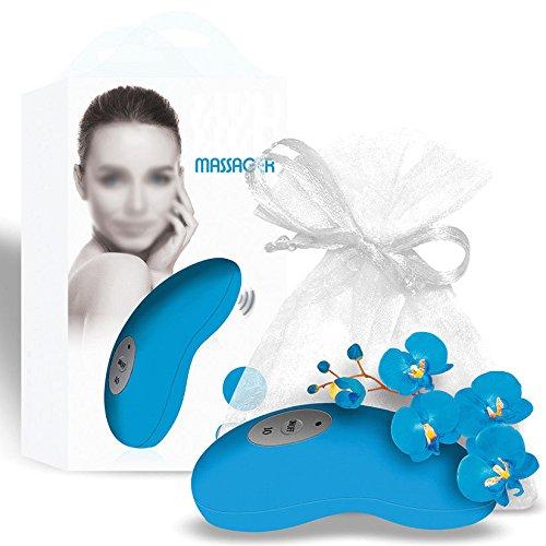 [Waller PAA] Velvet Palm Massager- Neon Blue Vibrator by WALLER PAA