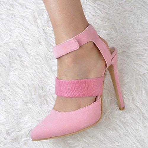 Hauts Chaussures Kolnoo Cheville À Slim Femmes 13cm Élastique De Slingback Pink Sangle Sandales Talons Handmade O7wq04Og