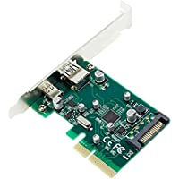 xlpace PCI-E 4X To USB 3.1 Type-C Type-A SATA Power Supply Dual Port Hard Disk Desktop Computer Express Controller Adapter Card