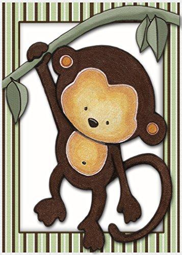 - Little Mod Pod Monkeys - Nursery Art Prints (5x7, Monkey 2)