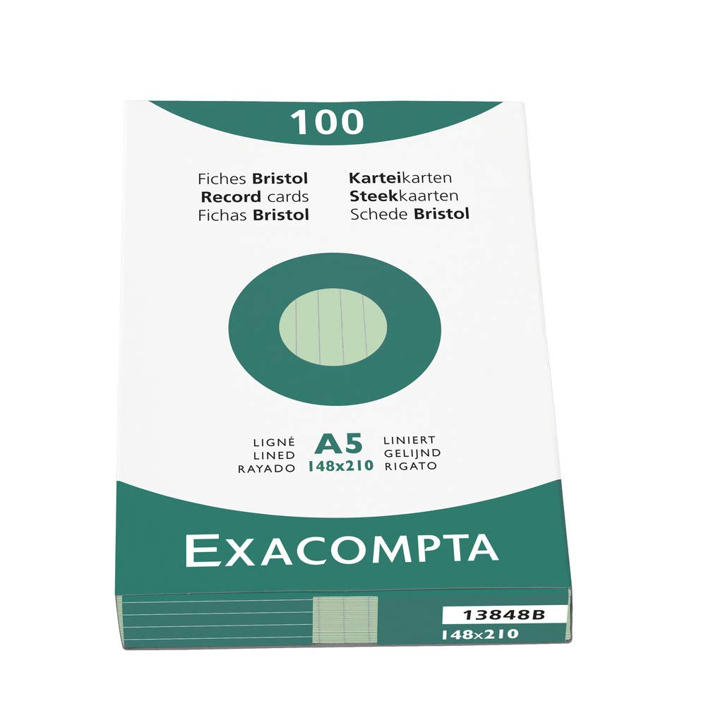 Etui de 100 fiches bristol uni non perfore 74x105mm