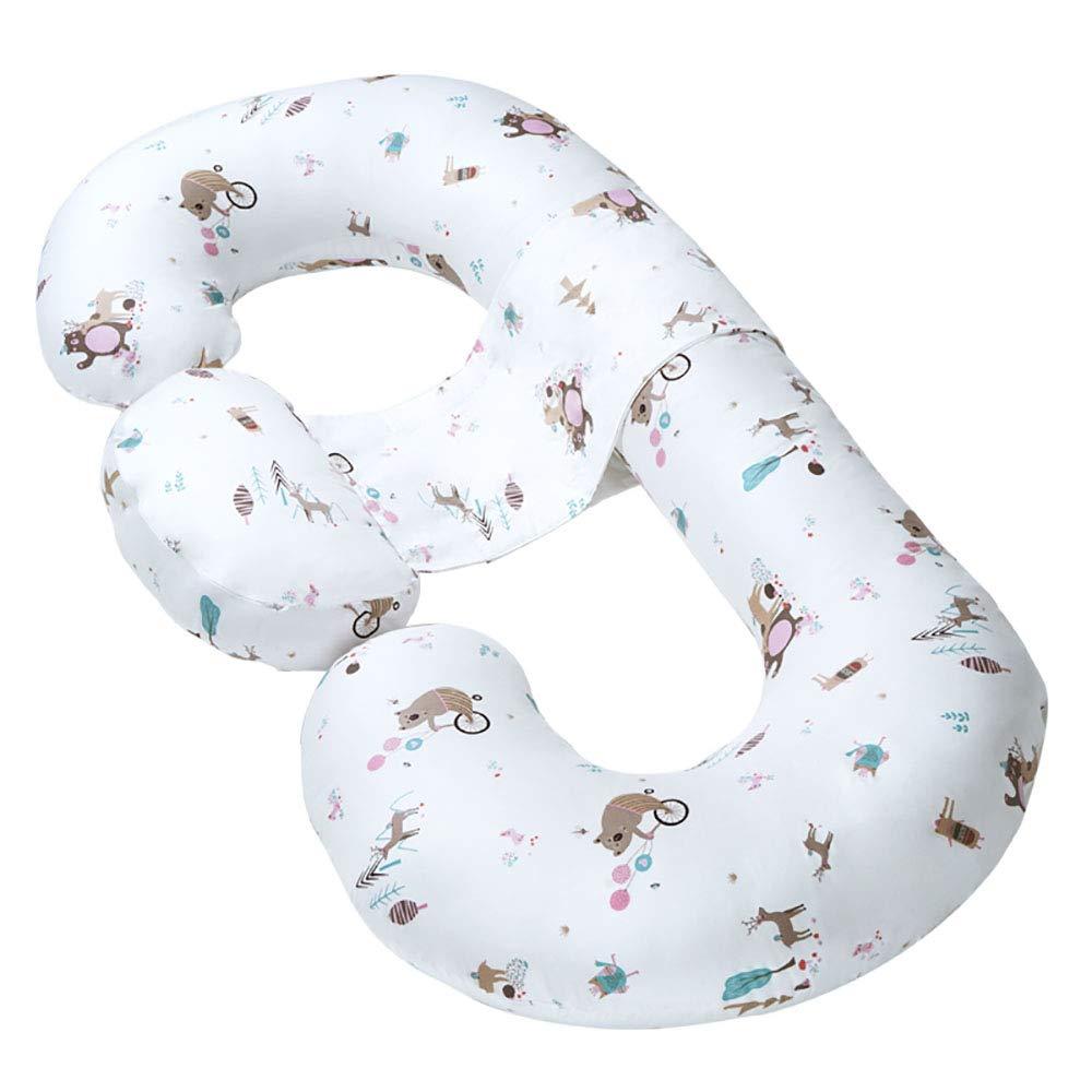 妊娠中の女性の枕の母乳育児や授乳枕のボディサポート枕横の睡眠枕 B07Q4VV1QS A