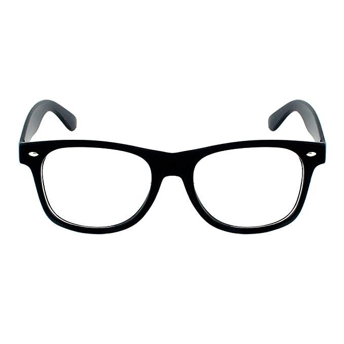 d1fcbf0307 Lentes para niños Modelo Wayfarer BlackMamut Cristal Transparente Armazón  Liso Incluye Estuche Pillbasic - Negro