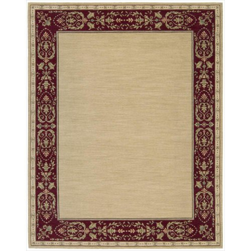 Nourison Vallencierre (VA08) Beige Rectangle Area Rug, 5-Feet 3-Inches by 8-Feet 3-Inches (5'3