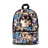 FOR U DESIGNS Funny Pet Print Casual Soft Book Bag for Teens Girls Daypack