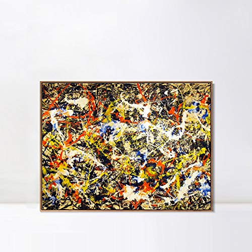 Used, INVIN ART Framed Canvas Convergence by Jackson Pollock for sale  Delivered anywhere in Canada