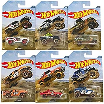 Hot Wheels 6 Car Pack Baja Truck-Dune Crusher- Custom Ford Bronco ...