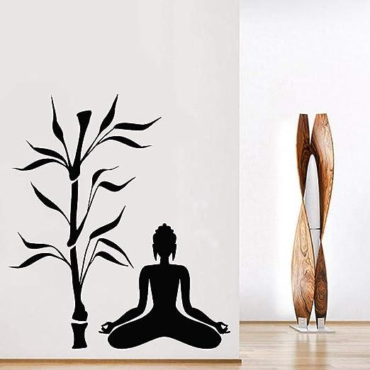 xinyouzhihi Buda Bamboo Tree Tatuajes de Pared Yoga Estudio ...