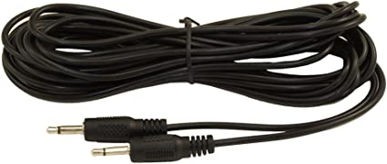 TS to 3.5mm  Male to Male  28AWG  Nickel Plated 25ft 1//4inch MONO