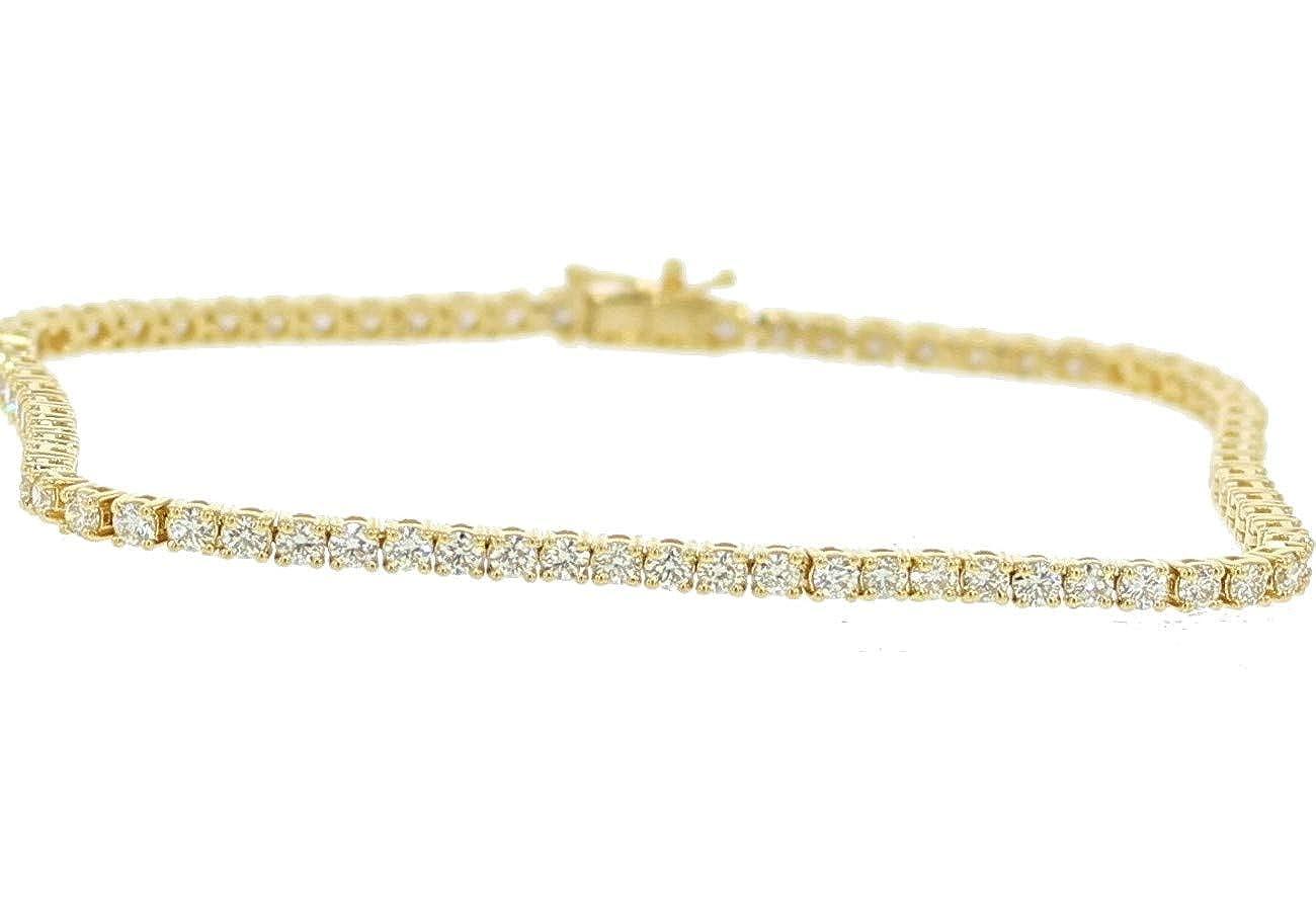 Amazon.com  Midwest Jewellery 10K Gold Diamond Tennis Bracelet Mens or  Womens 8 Inch Long 4.55CTw  Jewelry 41d9d5d27