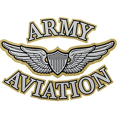 U.S. Army Aviation With Aviator Wings Clear Decal: Automotive