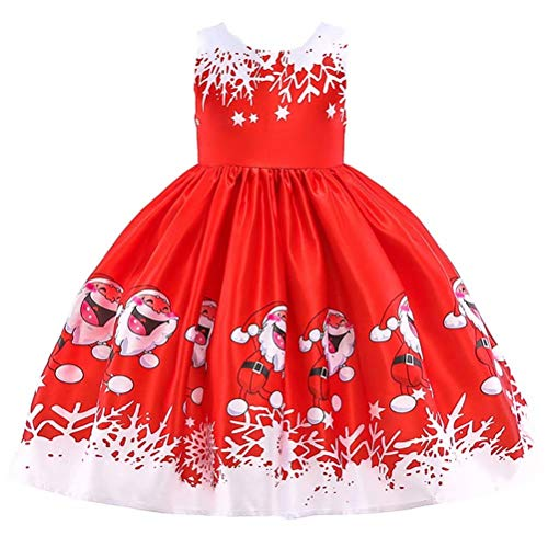 Girls Christmas Dress Reindeer Snowflake Xmas Gifts Princess Dresses