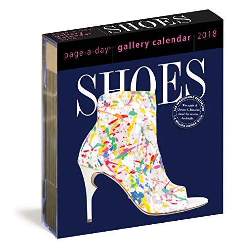 Shoes Page-A-Day Gallery Calendar 2018 cover