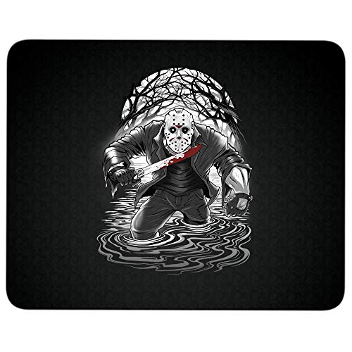 Jason Voorhees Friday The 13th Halloween Non-Slip Rubber Base Mousepad for Laptop, Computer & PC, Killer Clown: The John Wayne Gacy Murders Mouse Pad(Mouse Pad - Black) -