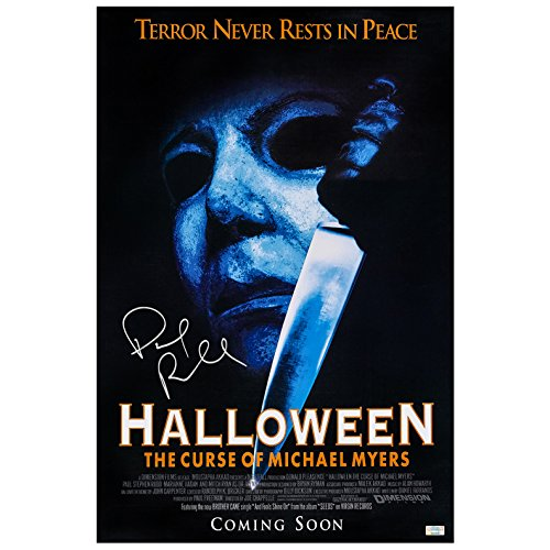 Paul Rudd Autographed Halloween: The Curse of Michael Myers 16×24 Poster