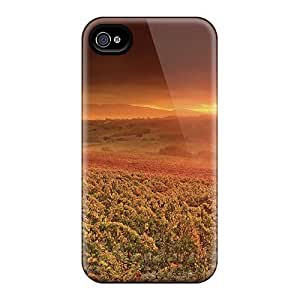 Williams6541 Scratch-free Phone Case For Iphone 4/4s- Retail Packaging - Wonderful Sunrise Over Vinyards by icecream design