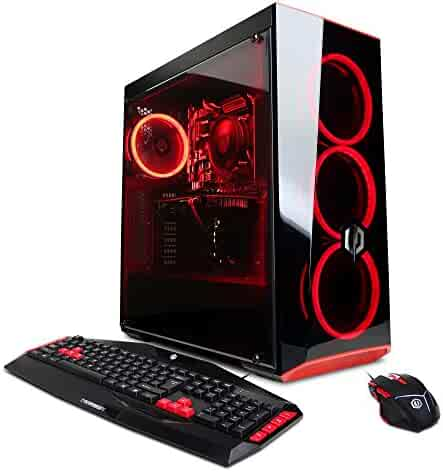 CYBERPOWERPC Gamer Xtreme GXIVR8020A5 Desktop Gaming PC (Intel i5-8400 6 Core Processor, AMD RX 580 4GB, 8GB DDR4 RAM, 1TB 7200RPM HDD, WiFi, Win 10 Home 64-bit), Black - VR Ready