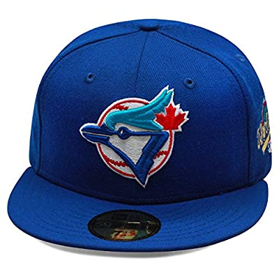 New Era 59fifty Toronto Blue Jays Fitted Hat 1993 World Series Side Patch MLB
