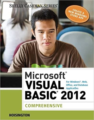 Microsoft visual basic 2012 for windows web office and database microsoft visual basic 2012 for windows web office and database applications comprehensive shelly cashman series 1st edition fandeluxe Gallery