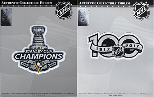 2017 Stanley Cup Final Champions Pittsburgh Penguins & 100th Anniversary Patch