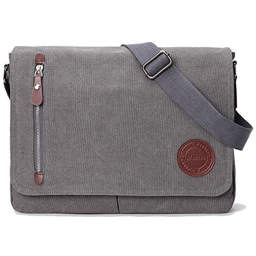 - Vintage Canvas Satchel Messenger Bag for Men Women,Travel Shoulder Bag 13.5