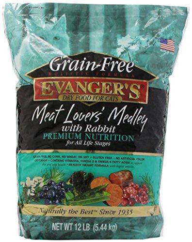 EVANGER'S 776605 Grain Free Meat Lover'S Medley with Rabbit