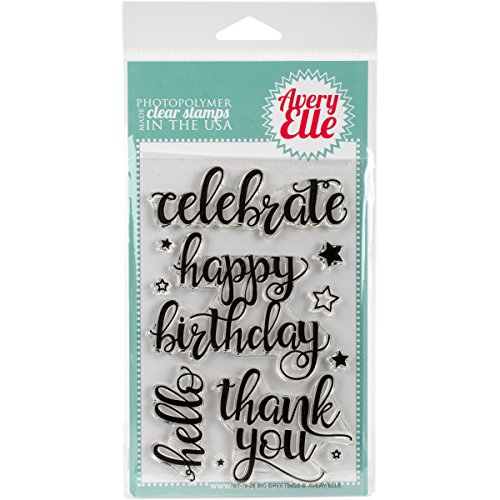 Avery Elle ST-16-26 Clear (Happy Birthday Clear Stamp)