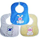 Toyboy Beautiful Printed Baby Bib (Pack of 3 Bib) - Print And Color May Vary