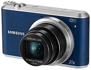 Samsung WB350F - 16.3MP BSI CMOS, 21X Optical Zoom, 3-inch LCD touchscreen, 1080p HD Video, Smart WiFi and NFC Digital Camera - Blue (Certified Refurbished)
