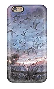 For Iphone 6 Fashion Design Animal Bird Clouds Landscape Original Scenic Shimetta Oshime Sky Tree Case-tebUOUd6874UZVyw