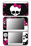 Cute Pink Skull Punk Monster Bow Tie Video Game Vinyl Decal Skin Sticker Cover for Original Nintendo 3DS XL System