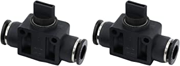 Beduan BHVFF 12 mm OD Pneumatic Plastic Air Tube Hand Valve Speed Controller Union Straight Fittings