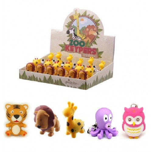 Emperor of Gadgets Cute Animal LED Keychains with Sound Effects (15 Pack)