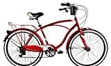 Huffy 26'' Mens Fresno Cruiser Bicycle - 7 Speed - Red